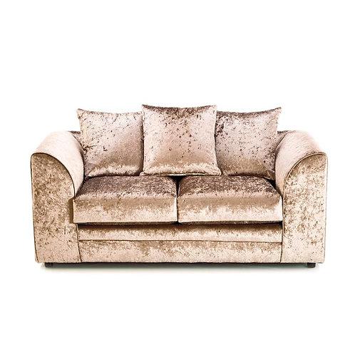 Michigan 2 Seater Mink Crushed Velvet Sofa