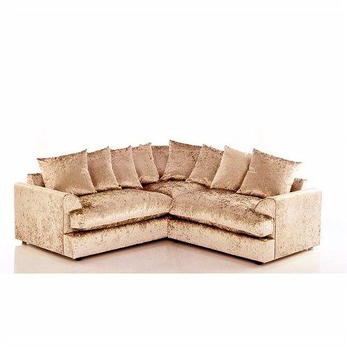 Jamba Mink Crushed Velvet Symmetrical Corner Sofa