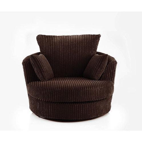 Chicago Chocolate Brown Jumbo Cord Swivel Chair