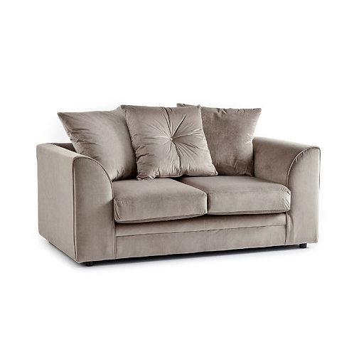 Rockford Mink Plush Velvet 2 Seater Sofa