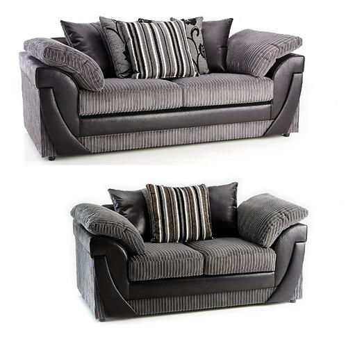 Lush 3+2 Grey Jumbo Cord  Sofa