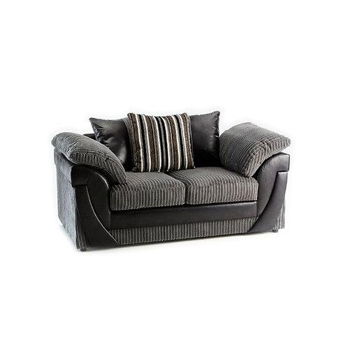 Lush 2 Seater Grey Jumbo Cord  Sofa
