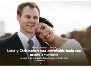 Lucía y Christopher: una entrañable boda con acento americano