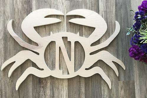 Single Initial Wood Crab