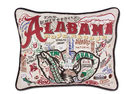 Alabama, University of Collegiate Embroidered Pillow