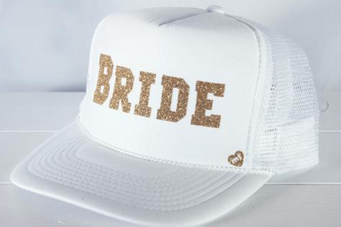 White Mother Trucker Bride Hat