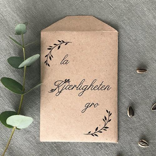 Frøpose i kvistpapir - pakke med 10 stk
