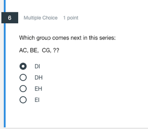Sequential Question Example
