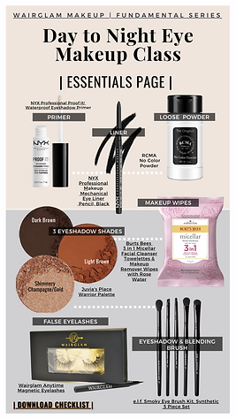 Day to Night Eye Makeup Class-Essentials