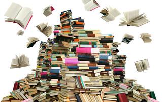 Une montagne de livres pour Christian