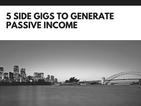 5 side gigs to generate passive income