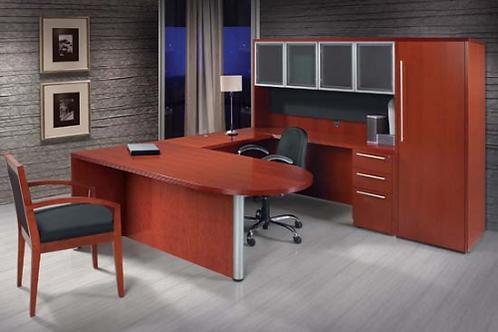 Executive Bullet U with Peninsula Desk