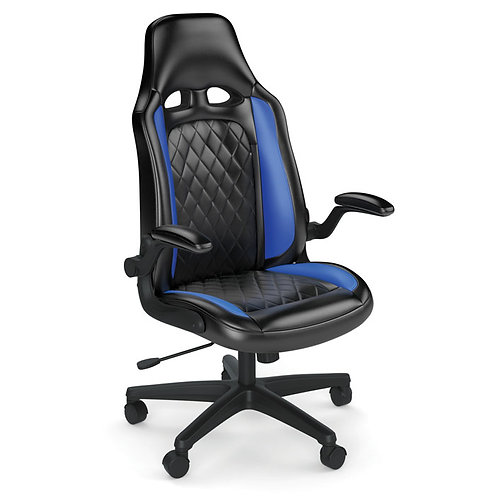 36801 BLUE STRIKER High Back Gaming Chair Black Frame