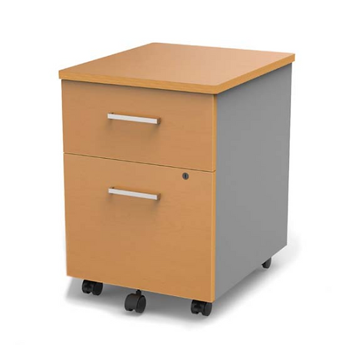 Mobile Pedestal File with Laminate and Steel Design