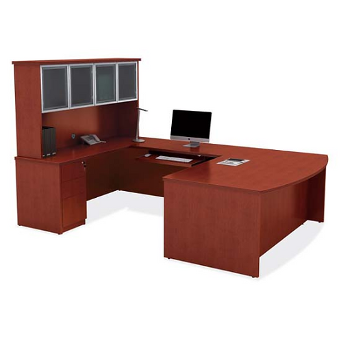 Executive U with Bow Front Desk