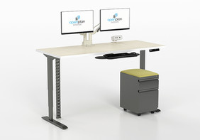 E-TABLE48-72-J.XX SIT STAND BASE STRAIGHT Optional Mobile Pedestal, Monitor Mount, Keyboard and Monitor Mount