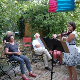 Gartenkonzert bei Frau R.