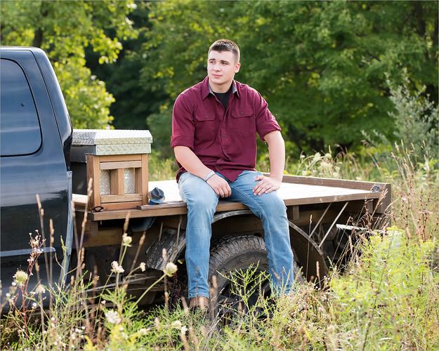 Truck in Summer Field