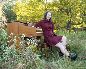 Piano in Fall Field