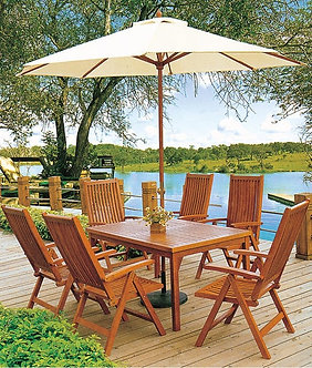 7-Piece Wooden Outdoor Dining Set
