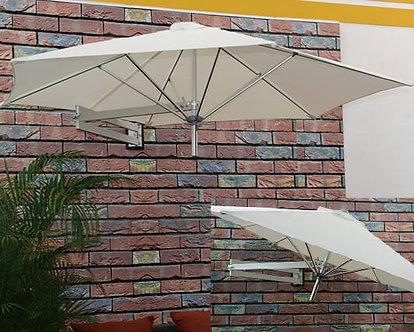 8 Feet Outdoor Wall Umbrella Aluminum Pole Polyester Top