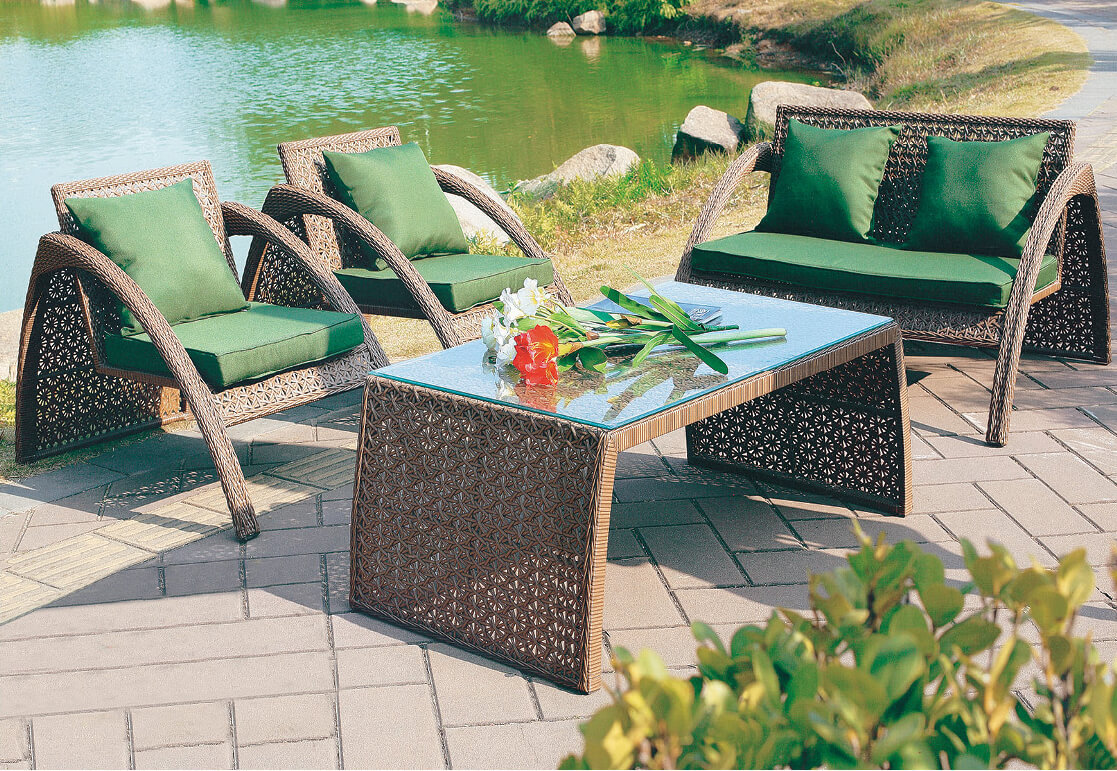 Loungeset 50 Euro.4 Piece Outdoor Lounge Set