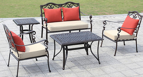 5-Piece Decorative Aluminum Dining Set