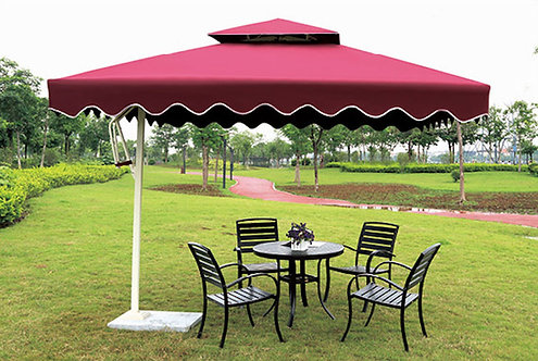 10 Feet Offset Pull Lever Square Outdoor Umbrella
