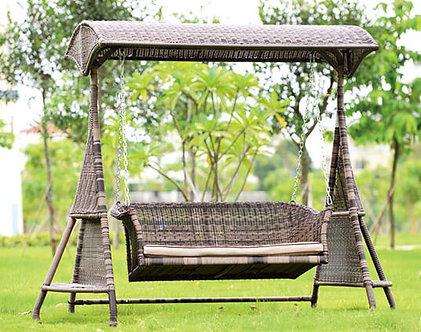 Swing Bench Aluminum Frame Wicker Body