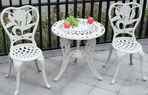 3-Piece Decorative Aluminum Dining Set