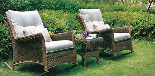 3-Piece Rocking Chair and Table Set