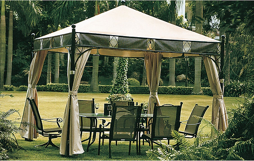 13 Feet by 13 Feet Gazebo With Curtains