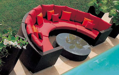 5-Piece Circular Outdoor Sofa Set