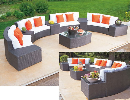 10-Piece Curved Outdoor Lounge Set