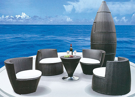 5-Piece Stackable Outdoor Lounge Set