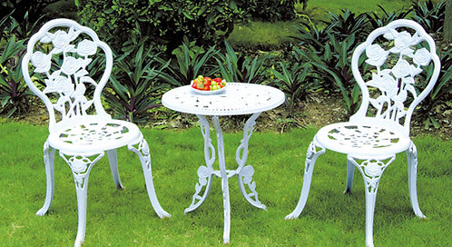 3-Piece Decorative Aluminum Dining Set