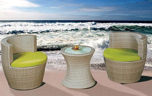 3-Piece Stackable Outdoor Lounge Set