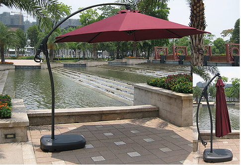 10 Feet Curved Offset Cantilever Outdoor Umbrella Aluminum Pole
