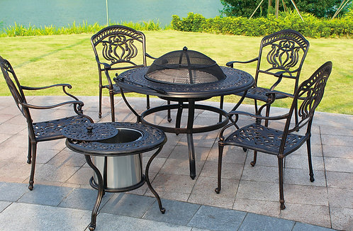 6-Piece Barbecue Aluminum Dining Set