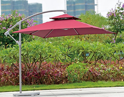 10 Feet Offset Cantilever With Vent Outdoor Umbrella