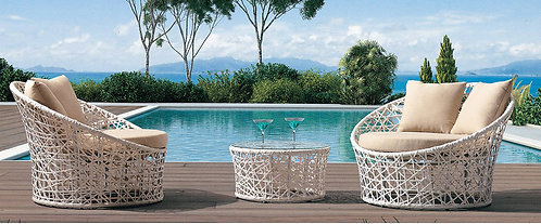 3-Piece Patio Table and Chairs Set