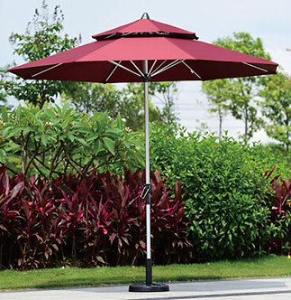 10 Feet Outdoor Umbrella Aluminum Pole Polyester Top