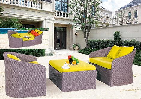 3-Piece Outdoor Sofa Set