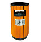 Single Bin Trash Can with Composite Decoration
