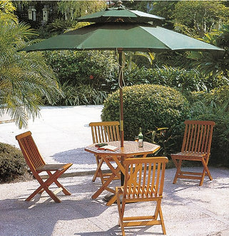 5-Piece Wooden Outdoor Dining Set