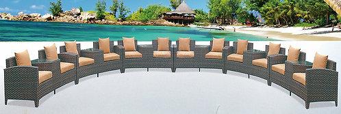 6-Piece Circular Lounge Set with Center Tables