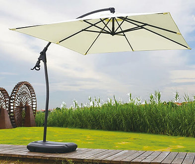 10 Feet Offset Curved Cantilever Outdoor Umbrella