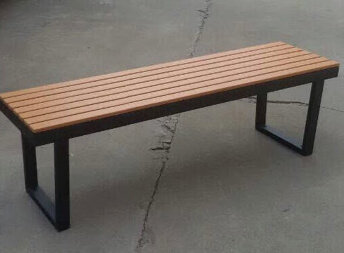 Park Bench Steel Frame and Pine Wood