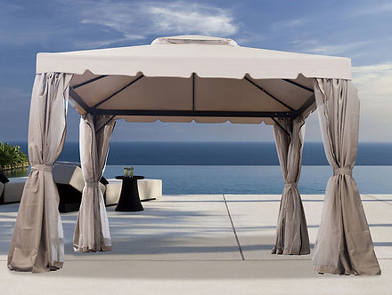 10 Feet by 13 Feet Gazebo With Curtains