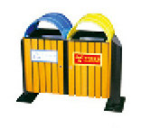 Double Bin Trash Can with Composite Decoration